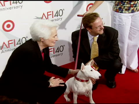 Jean Picker Firstenberg Bullseye and Bob Gazzale at the Target Presents AFI's 40th Anniversary at Arclight Cinemas in Hollywood California on October...