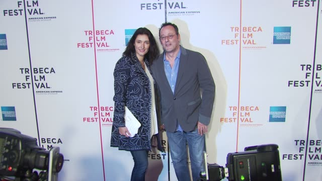 jean reno and guest at the 'my own love song' premiere 9th annual tribeca film fest at new york ny - open collar stock videos and b-roll footage