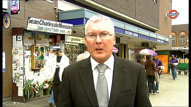 day one stockwell tube station reporter to camera - stockwell stock videos and b-roll footage