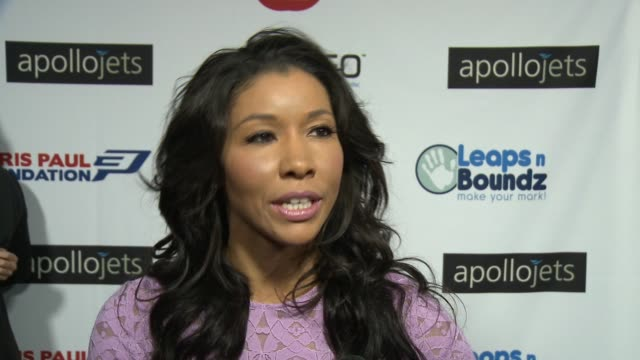 INTERVIEW Jeanette Jenkins on the event at The CP3 Foundation's Celebrity Server Dinner Hosted By Chris Paul in Los Angeles CA