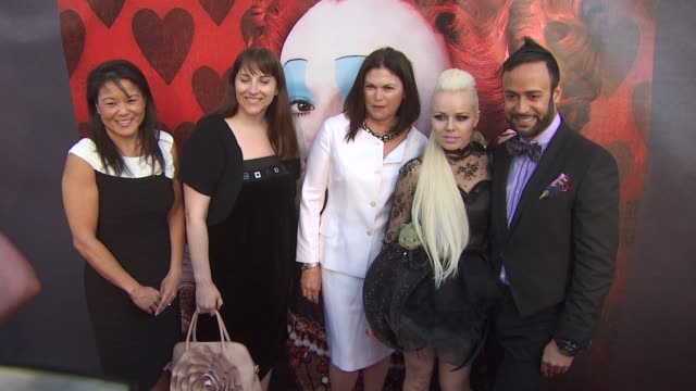 jeanie hobson lori macpherson colleen atwood kerli and nick verreos at the opening night of fidm exhibit for walt disney studios 'alice in... - alice in wonderland stock videos and b-roll footage