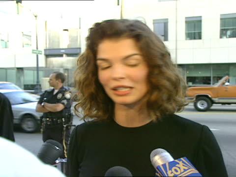 jeanne tripplehorn talks about sydney pollack. - sydney pollack stock videos & royalty-free footage