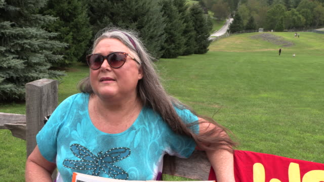 jeannie whitworth who attended woodstock in august 1969 when she was 16yearsold recalls her memories of the event 50 years ago during an interview at... - 16 17 years stock videos & royalty-free footage