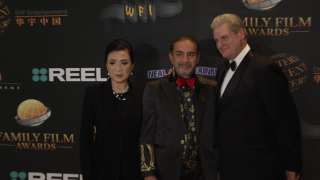 jeannie yi, olympia gellini, roger neal at the 24th family film awards at hilton los angeles/universal city on march 24, 2021 in universal city,... - universal city stock videos & royalty-free footage