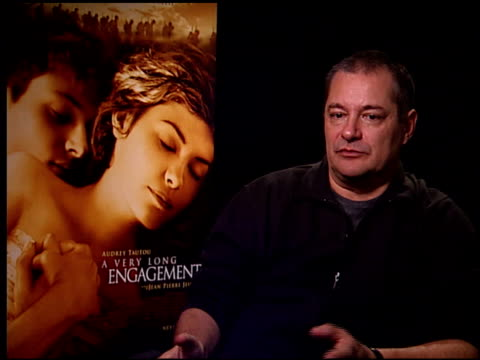 vídeos de stock, filmes e b-roll de jeanpierre jeunet on the lengthy process of getting this film made at the 'a very long engagement' press day at the four seasons hotel in los angeles... - um longo domingo de noivado