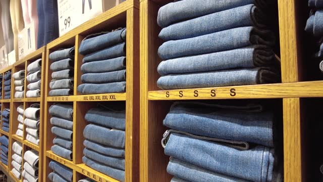 jeans in the fashion store - jeans stock videos & royalty-free footage