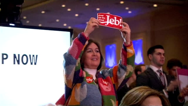 jeb bush addresses conservative political action conference rick perry along shaking hands with conference delegates kentucky addressing cpac... - organisierte gruppe stock-videos und b-roll-filmmaterial