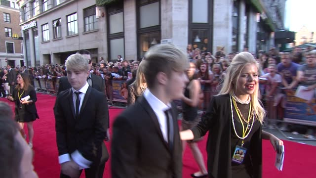 uk premiere at odeon leicester square on august 20 2012 in london england - jedward stock videos and b-roll footage