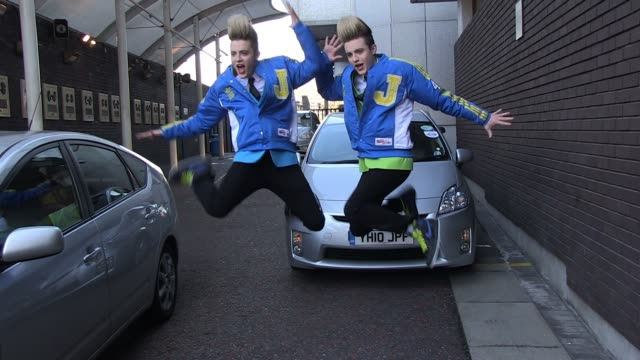 Jedward leave ITV Studios Southbank SIGHTED Jedward at ITV Studios on April 04 2011 in London England