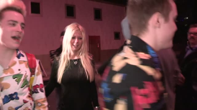 jedward & tara reid departing vignette in west hollywood, 01/31/13 - vignette stock videos & royalty-free footage