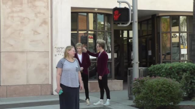 jedward walking on bedford in beverly hills on october 12 2015 in los angeles california - jedward stock videos and b-roll footage