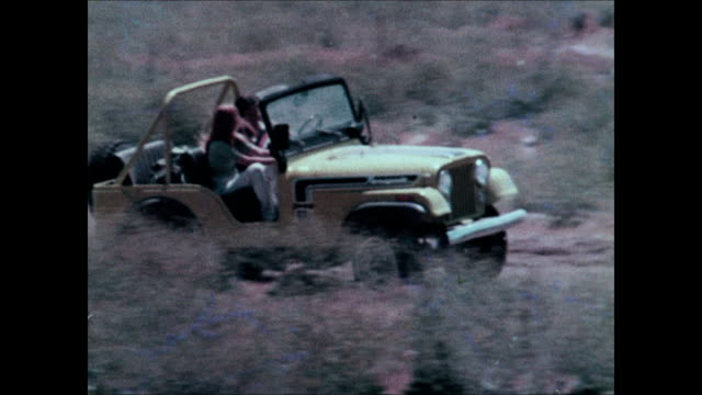 1974 jeep cj montage - off road car stock videos and b-roll footage