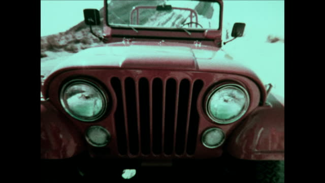 1975 jeep cj montage - 4x4 stock videos & royalty-free footage