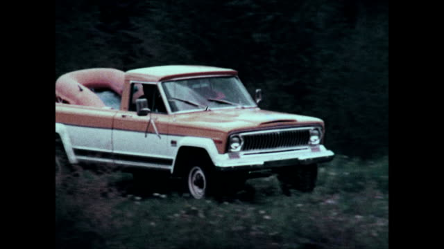 1974 jeep honcho pickup truck montage - durability stock videos & royalty-free footage