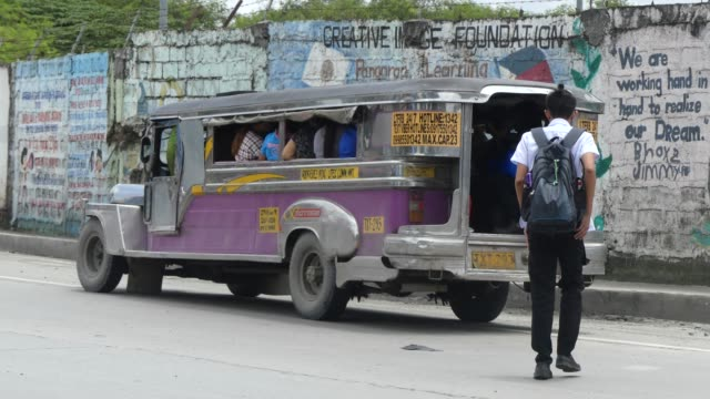A Jeepney in Manilan in the Philippines