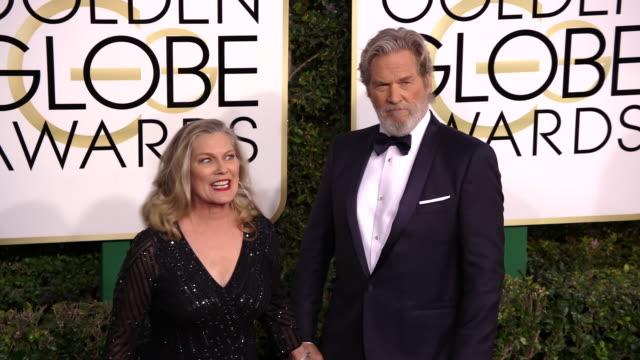 Jeff Bridges and Susan Bridges at 74th Annual Golden Globe Awards Arrivals at 74th Annual Golden Globe Awards Arrivals at The Beverly Hilton Hotel on...