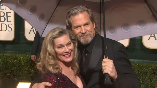 Jeff Bridges and wife Susan Geston at the 67th Annual Golden Globe Awards Arrivals Part 4 at Beverly Hills CA