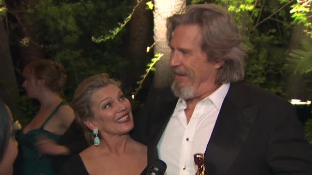 jeff bridges at the 2010 vanity fair oscar party hosted by graydon carter at west hollywood ca - graydon carter stock videos and b-roll footage