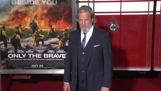 Jeff Bridges at the 'Only The Brave' Premiere at Regency Village Theatre on October 08 2017 in Westwood California