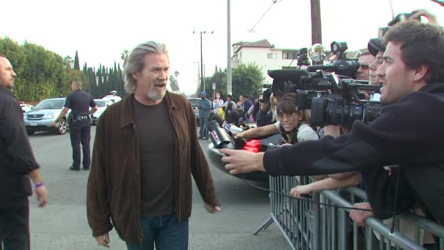 jeff bridges at the we are the world 25th anniversary recording for haitian earthquake relief at los angeles ca - 25th anniversary stock videos and b-roll footage
