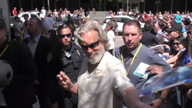 jeff bridges outside conan o'brien's comic con special at spreckels theatre in san diego in celebrity sightings in san diego - conan o'brien stock videos and b-roll footage