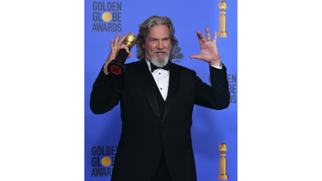 Jeff Bridges poses in the press room during the 76th Annual Golden Globe Awards held at the Beverly Hilton Hotel on January 6 2019