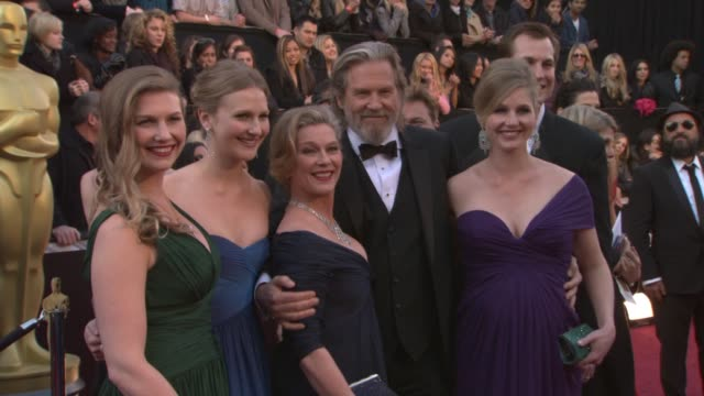 Jeff Bridges wife Susan Bridges and family at the 83rd Annual Academy Awards Arrivals Pool Cam at Hollywood CA