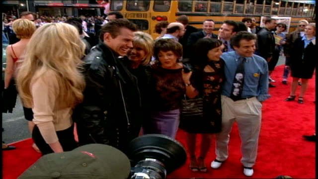 jeff conaway olivia newton john stockard channing and didi conn pose on the red carpet at 20th anniversary screening of the premiere of grease - olivia newton john stock videos & royalty-free footage