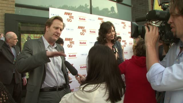 jeff daniels and allison janney at the 'away we go' screening at new york ny - away we go video stock e b–roll