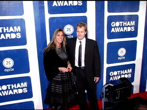 jeff daniels and kathleen treado at the ifp's 15th annual gotham awards arrivals at pier 60 at chelsea piers in new york, new york on november 30,... - independent feature project video stock e b–roll