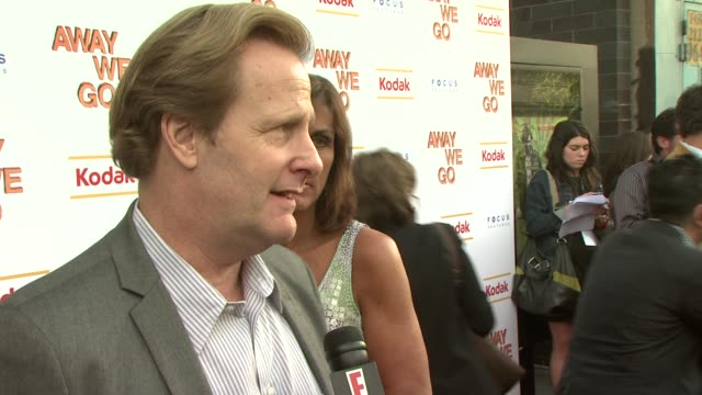 jeff daniels at the 'away we go' screening at new york ny - away we go video stock e b–roll