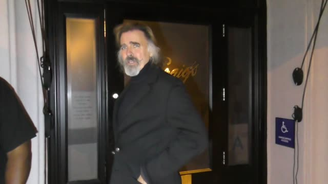 jeff fahey talks about his upcoming theater project outside craig's restaurant in west hollywood in celebrity sightings in los angeles, - west hollywood stock-videos und b-roll-filmmaterial