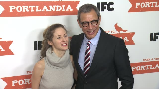 Jeff Goldblum and guest at PORTLANDIA Screening Hosted by IFC Red Carpet New York NY United States 1/5/2012