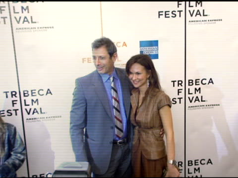 Jeff Goldblum and Svetlana Metkina at the 'Minis First Time' Premiere at the 2006 Tribeca Film Festival at Pace University's Schimmel Center for the...
