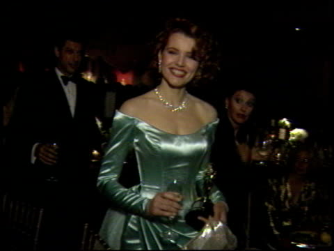 jeff goldblum at the 1989 academy awards ball at the shrine auditorium in los angeles, california on march 29, 1989. - 61st annual academy awards stock videos & royalty-free footage
