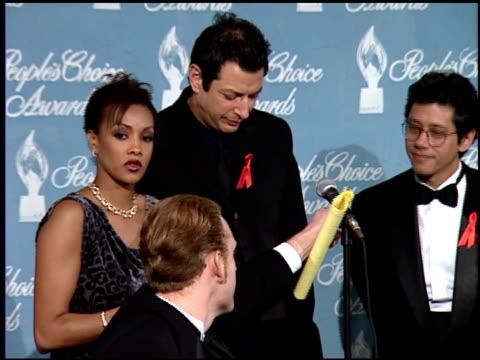 Jeff Goldblum at the 1997 People's Choice Awards at Santa Monica Airport in Santa Monica California on January 12 1997