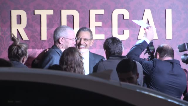 Jeff Goldblum Emilie Livingston greet fans while arriving at the Mortdecai Premiere in Hollywood in Celebrity Sightings in Los Angeles