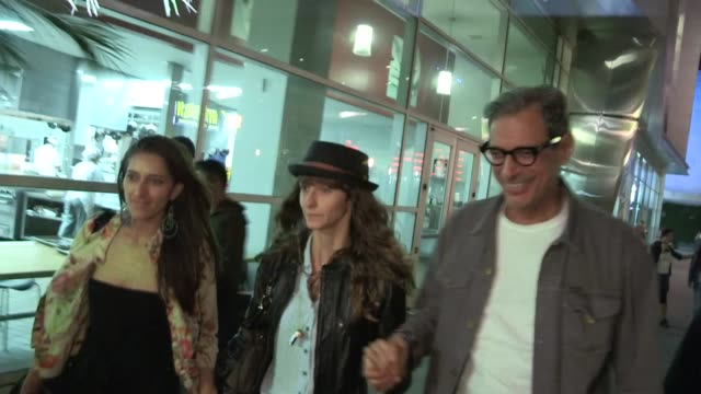 Jeff Goldblum Emily Livingston at the Arclight in Hollywood 08/12/13