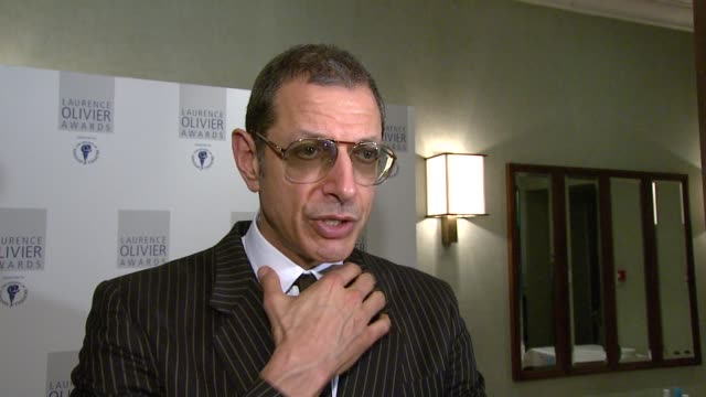 Jeff Goldblum on how much he's enjoying working with Kevin Spacey at London's Old Vic at the The Laurence Olivier Awards at the Grosvenor House in...