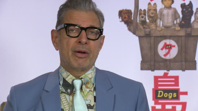 INTERVIEW Jeff Goldblum on watching the movie for the first time at 68th Berlin Film Festival Isle of Fogs Interviews at Hotel Adlon on February 16...