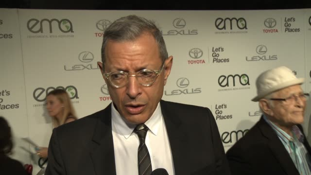 INTERVEW Jeff Goldblum on what makes the EMA Awards so inspiring his simplest green tips at 2014 Environmental Media Awards Presented By Toyota Lexus...