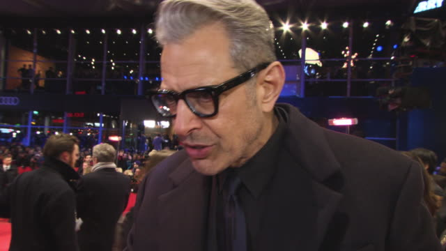 Jeff Goldblum on working with Wes Anderson at 68th Berlin Film Festival Isle of Dogs Opening Red Carpet at Berlinale Palast on February 15 2018 in...