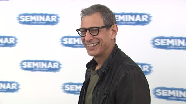 Jeff Goldblum 'Seminar' On Broadway Cast Photo Call at Roundabout Theatre Company on March 28 2012 in New York New York