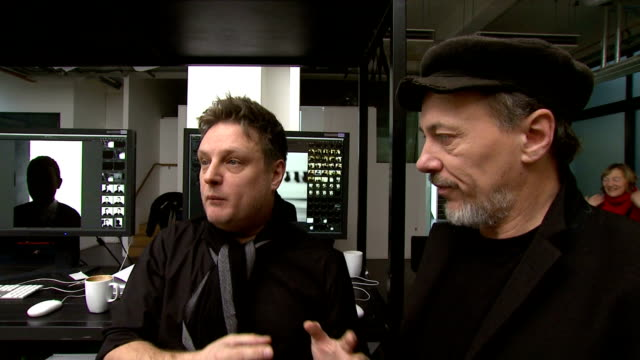 Jeff Hubbard and Rankin prior to the shoot talk about how Jeff has prepared for the shoot London United Kingdom