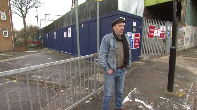 jeff hubbard outside the site of a former railway signal box where he and a friend lived whilst homeless. london, united kingdom - signal box stock videos & royalty-free footage