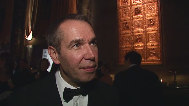Jeff Koons/ Artist and Honoree Artistic Achievement Award He speaks about 'objective art' the vocabulary of art and the power of art to bring people...