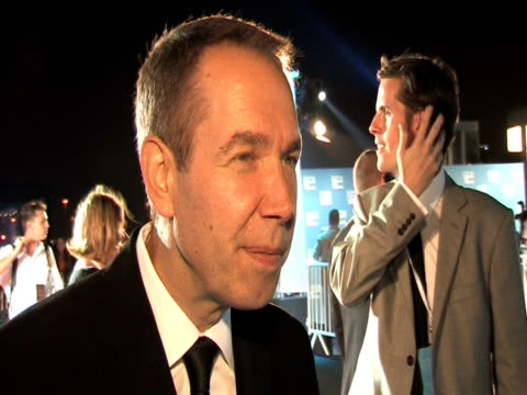 jeff koons on tribeca being significant in the middle east, on works coming out of the middle east and his interest in films from the region at the... - day 1 stock videos & royalty-free footage
