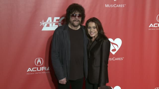 Jeff Lynne Sani Kapelson Lynne at MusiCares Person of the Year Honoring Tom Petty in Los Angeles CA