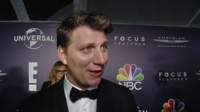 vídeos de stock e filmes b-roll de jeff nichols on what it means for loving to be recognized by the golden globes, why it was so important to tell this story now at the nbcuniversal's... - the beverly hilton hotel