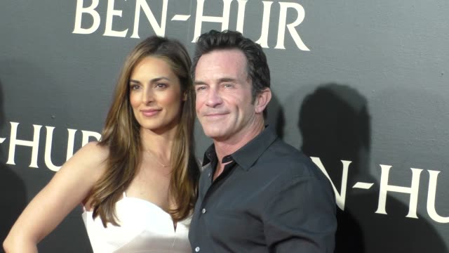 Jeff Probst Lisa Ann Russell at the Premiere Of Paramount Pictures' BenHur at TCL Chinese Theatre in Celebrity Sightings in Los Angeles